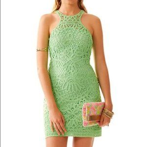 Lilly Pulitzer green crochet Jaime dress, S